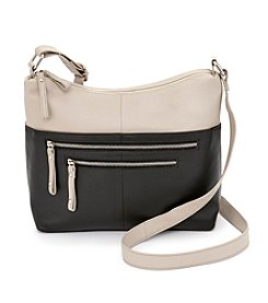 GAL Two Tone Zip Hobo Crossbody