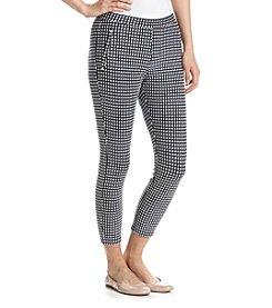 HUE® Checkered Knit Capri Leggings