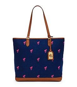 Lauren Ralph Lauren® Flamingo Canvas Tote