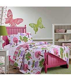 Greenland Home® Woodland Girl Quilt Set