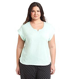 KN Karen Neuburger Plus Size Capped Sleeve Pajama Top