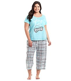 HUE® Plus Size Printed Pajama Set