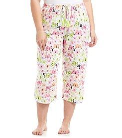 HUE® Plus Size Printed Pajama Capri