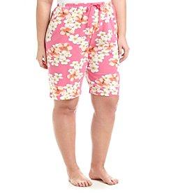 HUE® Plus Size Printed Pajama Bermuda Shorts