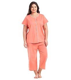 Intimate Essentials® Plus Size Short Sleeve Pajama Set