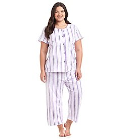 Intimate Essentials® Plus Size Short Sleeve Pajama Set