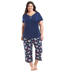 Intimate Essentials® Plus Size Henley Pajama Set