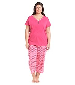 Intimate Essentials® Plus Size Henley Pajama Set