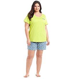 Intimate Essentials® Plus Size Bermuda Pajama Set