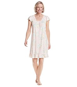 Miss Elaine® Short Printed Nightgown