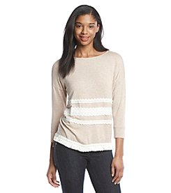 Kensie® Fringe Sweatshirt