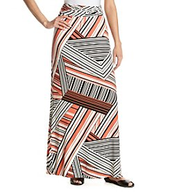 Sequin Hearts® Striped Maxi Skirt