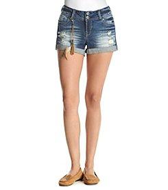 Wallflower® Destructed Cuffed Shorts
