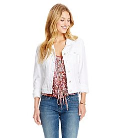 Jessica Simpson White Denim Jacket