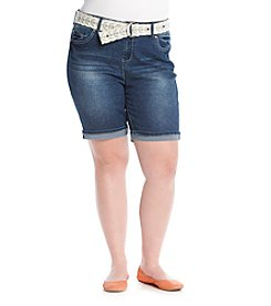 Wallflower® Plus Size Bermuda Shorts
