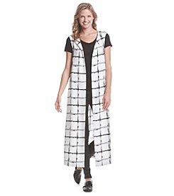 XOXO® Printed Long Vest