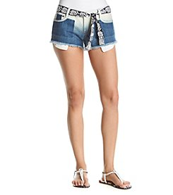 Hippie Laundry Ombre Shadows Denim Shorts