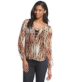 Jessica Simpson Lace Up Shirt
