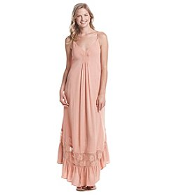 Skylar & Jade™ Gauze And Lace Maxi Dress