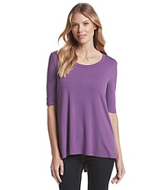 Fever™ Short Sleeve High-Low Tunic