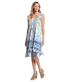 Oneworld® Sleeveless Scoop Neck Dress