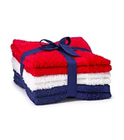 LivingQuarters Americana 6-Pk. Washcloths