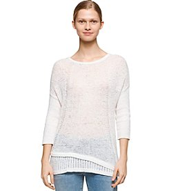 Calvin Klein Jeans® Tape Yarn Textured Sweater