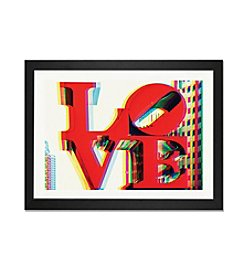 iCanvas After Twitch Series - Love by Philippe Hugonnard Black Framed Fine Art Paper Print