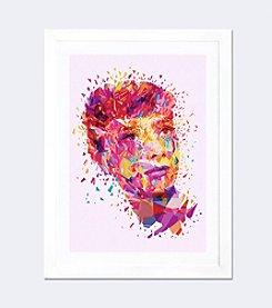 iCanvas Audrey by Alessandro Pautasso White Framed Fine Art Paper Print