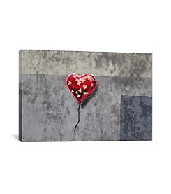 iCanvas Bandage Heart (Full) by Banksy Canvas Print