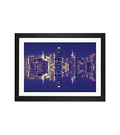iCanvas Double-Sided Manhattan Skyline by Philippe Hugonnard Framed Fine Art Print