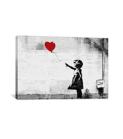 iCanvas Girl with a Balloon by Banksy Canvas Print