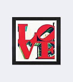 iCanvas LOVE by Philippe Hugonnard Black Framed Fine Art Paper Print