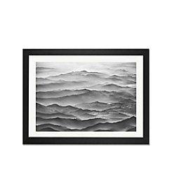 iCanvas Ocean Mountains by Ben Heine Black Framed Fine Art Paper Print