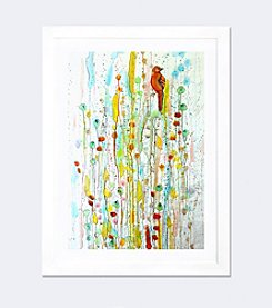 iCanvas Pause by Sylvie Demers White Framed Fine Art Paper Print
