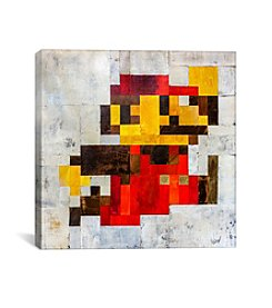 iCanvas Post Modern Mario by Francis Ward Canvas Print