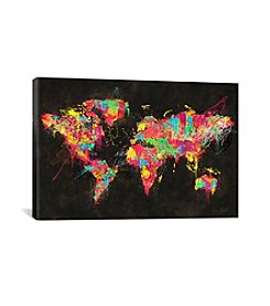 iCanvas Psychedelic Continents by Diego Tirigall Canvas Print