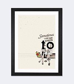 iCanvas Sometimes by Selman Hosgor Black Framed Fine Art Paper Print