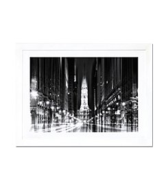 iCanvas Urban Stretch Series - City Hall, Philadelphia by Philippe Hugonnard Framed Fine Art Print