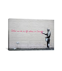 iCanvas What We Do in Life Echoes in Eternity by Banksy Canvas Print
