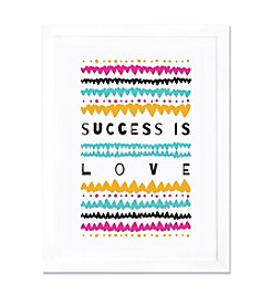 iCanvas Success is Love by Susan Claire White Framed Fine Art Paper Print