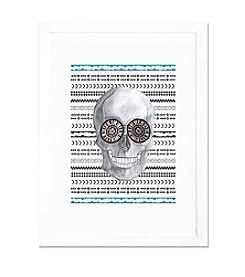 iCanvas Navajo Skull by Susan Claire White Framed Fine Art Paper Print