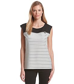 Calvin Klein Sleeveless Stripe Top