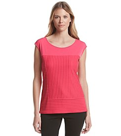 Calvin Klein Textured Rib Striped Top