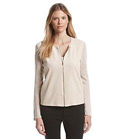 Calvin Klein Light Faux Suede Zip Jacket
