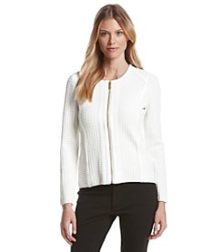 Calvin Klein Square Detailed Sweater Jacket