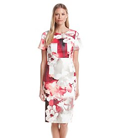 Calvin Klein Short Sleeve Floral Print Dress
