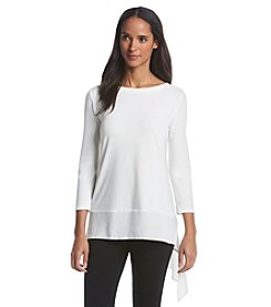 Ivanka Trump® Sheer Hem Tunic Top