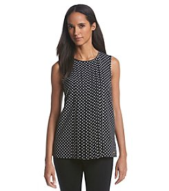 MICHAEL Michael Kors® Sleeveless Pleated Polka Dot Top