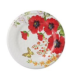 LivingQuarters Botanical Collection Poppy Salad Plate
